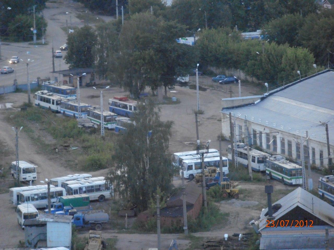 Троллейбусное депо №2 вид сверху.