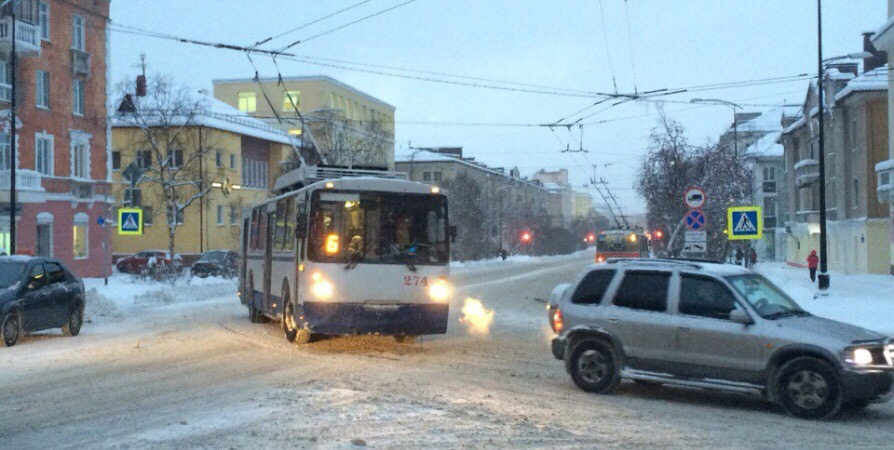 Будни троллейбуса в Мурманске